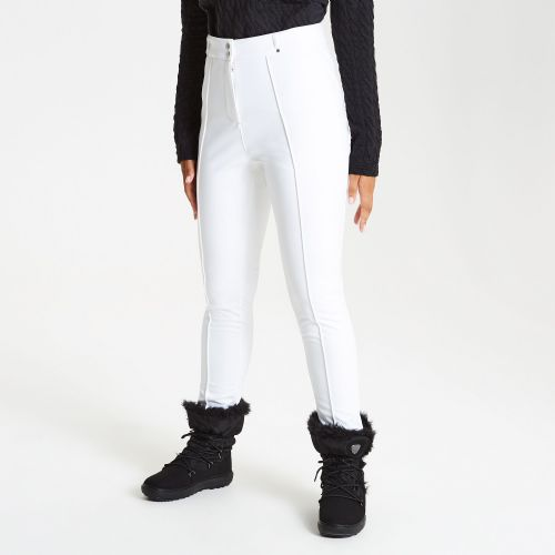 Women's Slender Tapered Fit Luxe Ski Pants White